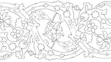 حاشیه سلیمی گلدار