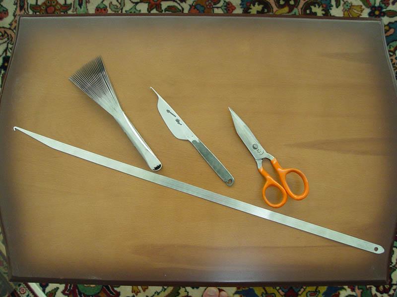 چاقو قالی بافی